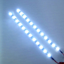 CATUO 2017 New arrival 30cm 12V 15 LED Car Auto Motorcycle Strip Lamp Flexible Light day running light DRL hot selling