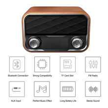 I10 Wooden Surface Bluetooth 4.0 Speakers Wireless Portable Stereo Sound Box Speaker FM Radio TF Card AUX U Disk Music Play(China)