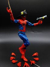 1pcs The Amazing Spider-Man COS Firemen Hat Water Gun Captain America3 Marvel Avengers PVC 17cm Collectible Action Figure Hand