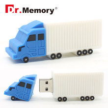 USB Flash Drive truck style usb 2.0 flash drive creative pendrive 8GB 16GB 32GB 64gb memoria stick wholesale customize(China)