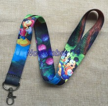 Lot 50Pcs mixed cartoon mickey Cell Phone Lanyards MP3 Strap Lanyards NECK Lanyard Charm WW375