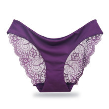 Buy Women's Sexy Lace Panties Seamless Underwear Briefs Ladies Panty Cotton Transparent Panties low-Rise Plus Size High Quality