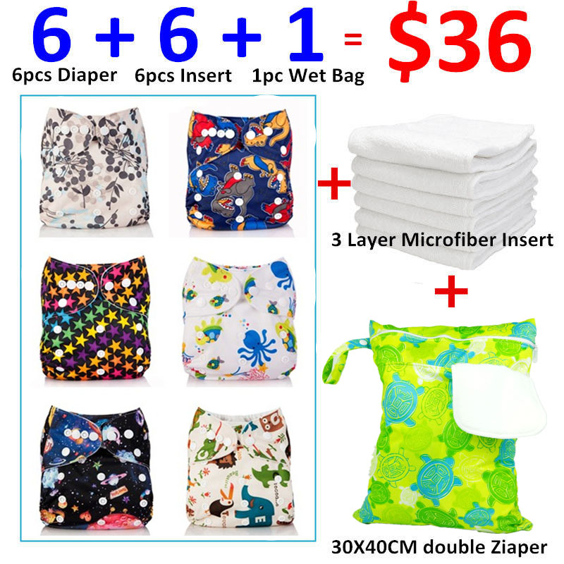 [Mumsbest] 13pcs/lot 2016 Best Sale Baby Products Washable Pocket Cloth Diaper New Designs Set Packing with Insert and Wet bag<br>