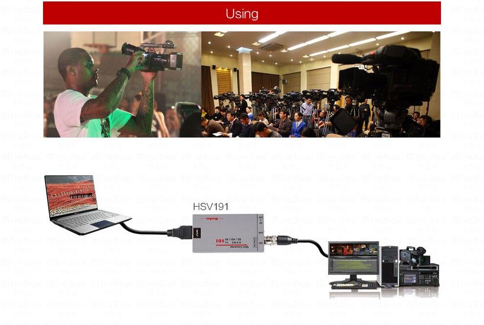 Mini 3g HDMI To SDI Converter Full HD 1080P HDMI to SDI Adapter Video Converter with Power Adapter for Driving HDMI Monitors (8)