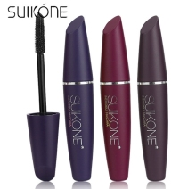 SUIKONE Brown red wine black color waterproof Collagen natural slim thick curling Mascara Fiber MAKEUP A930