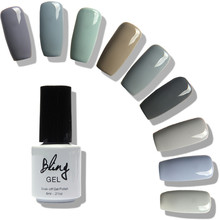 FOCALLURE Newest Gray Series Quartz Serenity Colors UV Gel Base Matte Top Coat UV Lamp Nail Art Nail Gel Lacquer