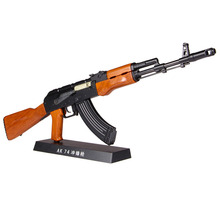 Big Sale AK47 metal toy gun model Toy Guns sniper rifle Alloy AK47 Weapon Gift collection DIY juguetes model gun metal bullets