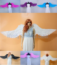 cosplay Costume Adult's large white angel feather wings Cosplay photography Game Display fashion show props EMS free shipping