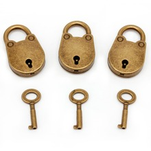 Old Archaize Vintage Antique Style Mini Padlocks Key Lock With key (Lot Of 3) Small padlock for handbag