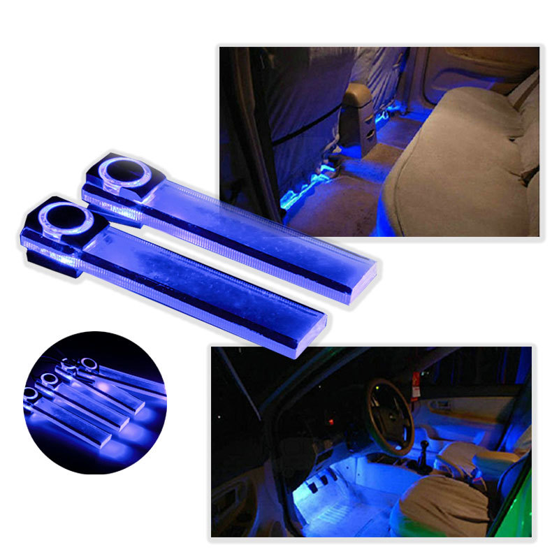 4 in 1 12V Car Auto Interior LED Atmosphere Lights Decoration Lamp Blue<br><br>Aliexpress