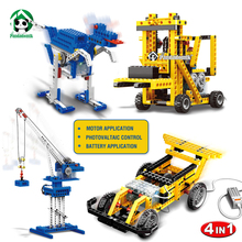 Power Machinery 4in1 Building Blocks Learning Educational Toys Electric Motor Car Wange Bricks are Compatible with lego parts