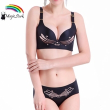 2016 ABC Cup Brand New Healthe Wire Free Bra Brief Sets Super Push up Girl's ladies' Sexy Bra Sets Girls Small Bra Underwear(China)