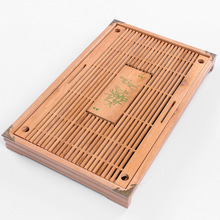 New,Chinese wood tea tray,Kung fu trivets,drain drawer,tea accessories,for green tea with jasmine,black natural tea,gin Jun mei(China)