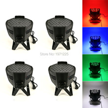 (4pcs) Good Quality Quad 54x3W RGBW Led Par Can Light DMX Stage Lights DMX LED Par Light LED Lamp KTV Disco DJ Lamp
