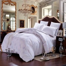 Winter  white fake duck Down Comforter quilted Blanket/Quilt /duvet twin double King Queen white cotton down proof shell