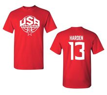 GILDAN 2017 Summer T-Shirts For Men USA Men's Basketballer James Harden #13 Front and Back Men's Tee Shirt 1436