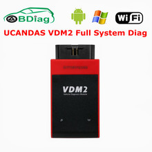 UCANDAS VDM II V3.9 Automative Scanner For Android Phone/Windows PC VDM2 WIFI Full System OBD2 Car Diagnostic Tool Free Shipping(China)