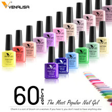 Venalisa Nouveau 60 Couleurs Comestic Art Nail Design Gel UV/LED Ongles Gel Laque Soak Off 7.5 ml Gel vernis à ongles Vernis À Ongles Gels(China)