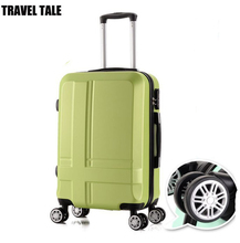 TRAEL TALE 20,24 Inches men and women trolley travel bag ABS luggage Men traveling suitcases