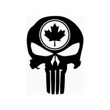 Funny Car Syling Skull Canadian Icon Car Motorcycle Wall Home Glass Window Door Vinyl Stickers Accessories 11.5cmX15.7cm(China)