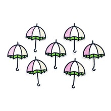 Umbrella Embroidered Iron On Patches For Clothing Iron On Sticker DIY Sewing Badge Embroidery Appliques Supplier For Garment