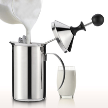 600ml Stainless Steel Milk Frother Foamer Double Mesh DIY White Coffee Creamer for Cappuccino Latte