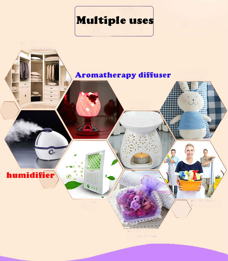 Dimollaure 12 Kinds of Fragrance Essential Oil Pack for DIY Aromatherapy Humidifier Fragrance lamp Purifying air Jasmine Oil 12