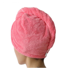 SWAMPLAND Women Bath Towels Hair Dry Cap Salon Towel Bathroom Thickening Absorbent Quick-drying Microfiber Towel Head Wrap Hat(China)