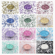 TCH1002-TCH1050 12 Solvent Resistant Matte Colors Mixed size dot shapes Glitter Nail Art ,Nail Polish ,DIY decoration sparkles(China)