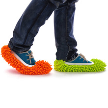 Single Piece Multifunction Mop Slipper Floor Polish Cover Cleaner Dusting Cleaning Foot Shoes Hot