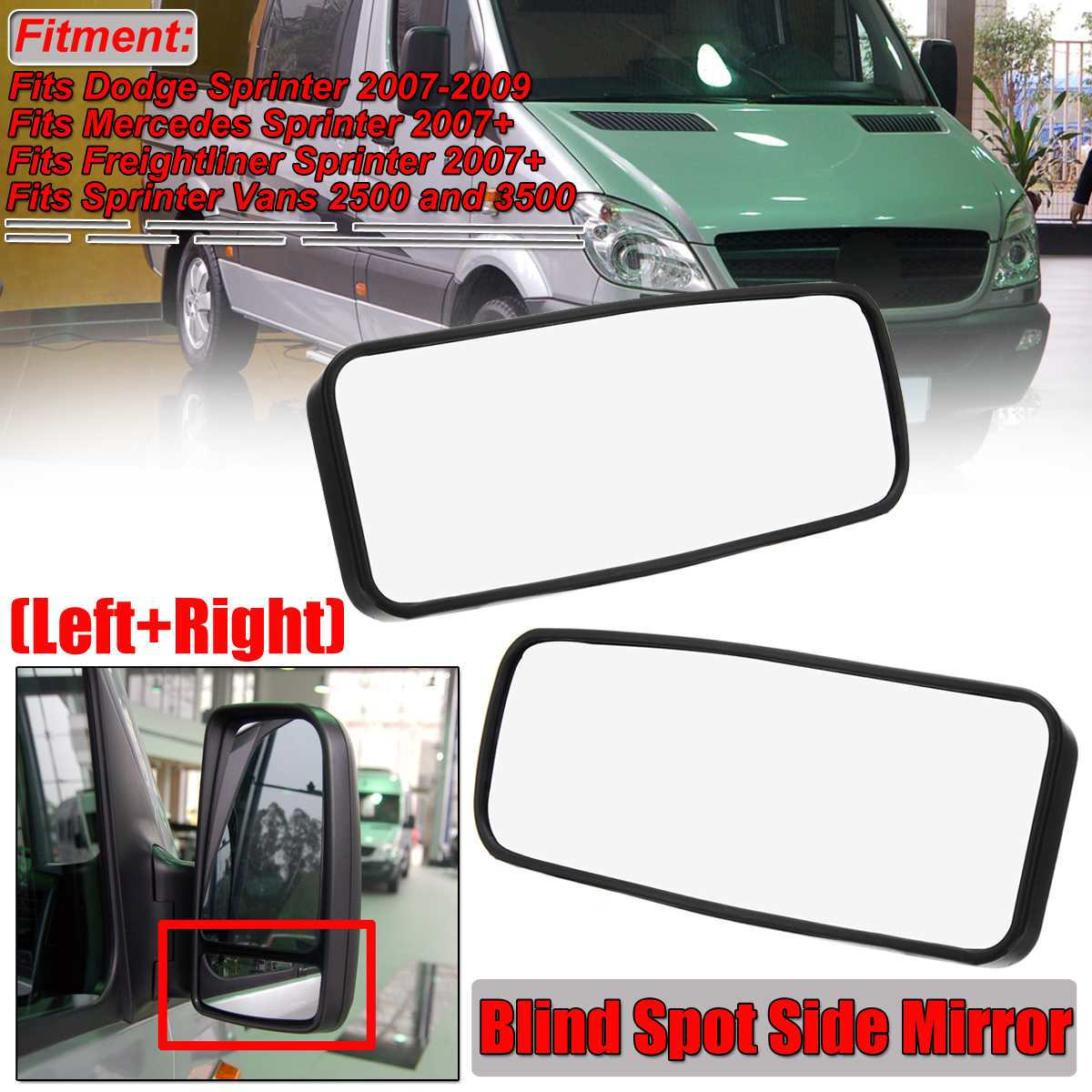 Front,Right Passenger Side DOOR MIRROR PLATE For Dodge Sprinter 2500 3500
