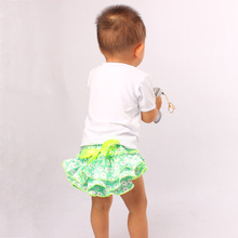 Satin Floral Silk Bow Baby Girl Ruffle Bloomer Princess Panties Shorts Briefs Summer Pants Nappy Covers PP Skirt with Headband(China)