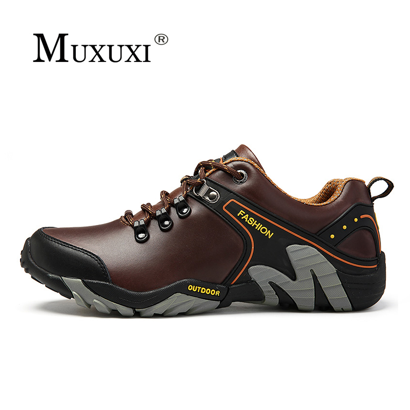 Fashion Genuine Leather Men Casual Shoes Men Outdoor rock climbing Oxford  Men Shoes comfortable walking Shoes<br>