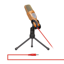 2m 3.5mm Jack AUX Wired Condenser Microphone Portable Microphone with Tripode Stand for Computer Laptop