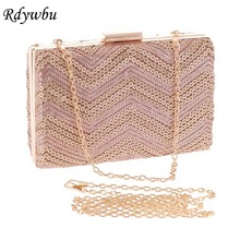 Rdywbu Promotion! 3 Colors New Dazzling Glitter Sparkling Sequins Evening Bag Party Purse Handbag Women Chain Clutches SJ280-2