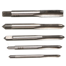 High Quality 5PCS/Set HSS Hand Tap M3 M4 M5 M6 M8 Tap & Die Machine Spiral Point Straight Fluted Screw Thread Metric Plug Tools