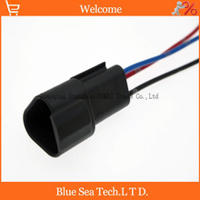 Sample,5 PCS Deutsch DT04-3P 3Pin Engine/Gearbox waterproof electrical connector with cable for car,bus,motor,truck etc.
