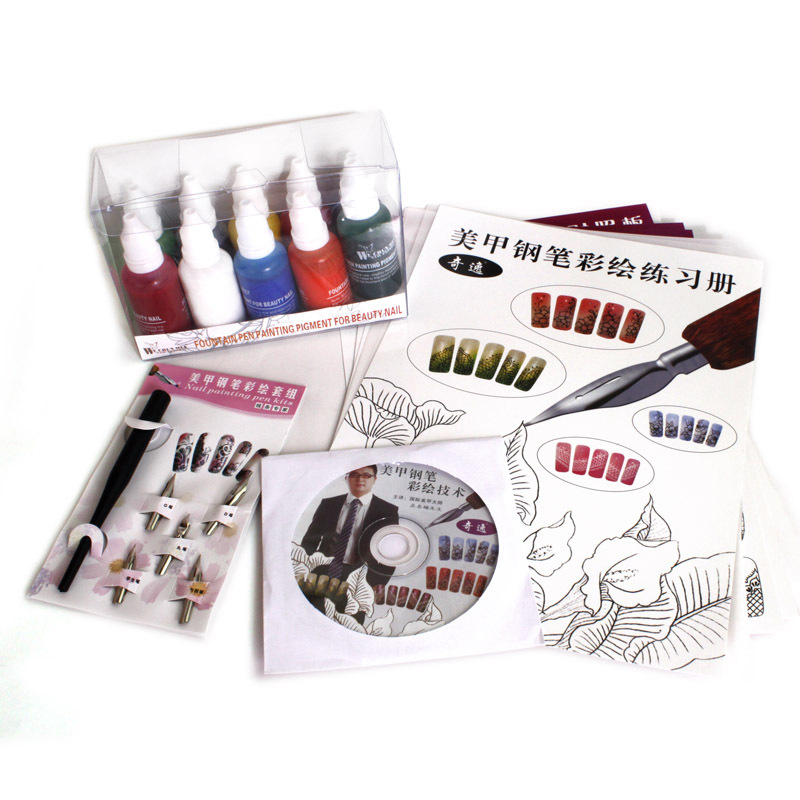 Set For Nail Gel Nail Pen Nail Art Kit Manicure Nail Painting Included Detailed Tutorial<br>