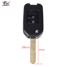 DANDKEY Wholesale 10pcs Folding Flip Remote Key Shell fob 2 buttons for Honda Jade(China)