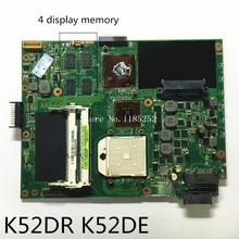 For Asus K52DR K52DE Laptop motherboard Mainboard with 4 display memory 100% tested Good working