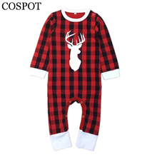 Buy COSPOT Baby Girls Boys Christmas Reindeer Romper Newborn Christmas Jumpsuit Infant Red Plaid Rompers 2017 New Arrive 0-5 Yrs 30F for $8.39 in AliExpress store