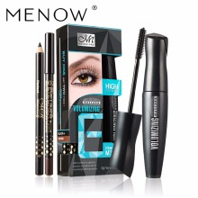 MENOW 1PCS Mascara +Two Eyelinr Extend Eyelashes Curling Thick Lasting Lengthening Waterproof Lasting Eye Cosmetics Set M303(China)