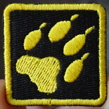 Black Yellow Bear 's footprint applique iron-on patch(China)