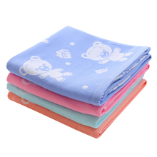 Baby Bath Towel Soft Cotton Gauze Muslin Baby Towel Newborn Infant Cartoon Cotton Towel AbsorbingTowels Soft Washcloth