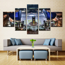 New Sale Landscape Oil Painting Canvas American Football Field Celebrate Fashion Gifts Wall Art for Living Room Decorations 5Pcs
