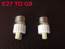 E27 TO G9 adapter Conversion socket High quality fireproof material G9 socket adapter Lamp holder 10pcs/lot(China)