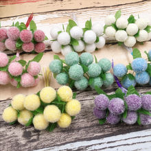 6pcs/lot Mini Silk Artificial Rose Flowers Bouquet Wedding Decoration Fake Flower For DIY Scrapbooking Flower Ball Cheap Flores