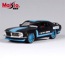 MAISTO Car Model 1:24 1970 Ford Mustang Boss302 Modified Cars Simulation Alloy Real Model Cars Toys With Openable Doors