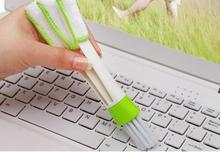 Pocket Brush Keyboard Dust Collector Air-condition Cleaner Window Leaves Blinds Cleaner Duster Computer Clean Tools(China)