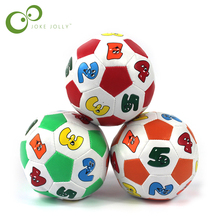 Children Kids Educational Toy Baby Learning Colors Number Rubber Ball Plaything(China)